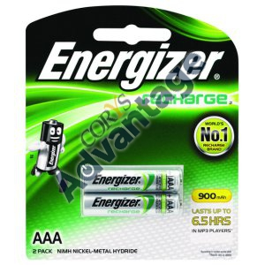 BATTERY RECHARGEABLE NI-MH AAA NH12BP2T ENERGIZER 2PK